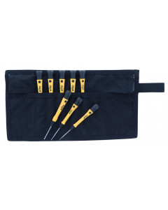 8 Piece ESD Safe Slotted and Phillips Screwdriver Set with Canvas Roll Pouch