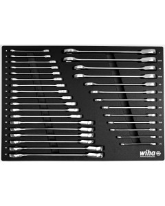 31 Piece Ratcheting Wrench Tray Set - SAE and Metric