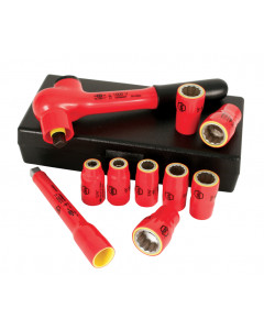 "Insulated 3/8"" Drive Socket 10 Piece Inch Set"