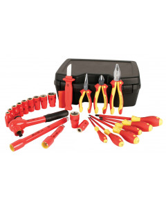 "Insulated Set With 1/2"" Drive Sockets 3/8"" to 1""  24 Pieces"