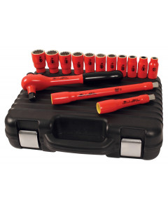 "Insulated 1/2"" Drive Socket 14 Pc. Set Metric"