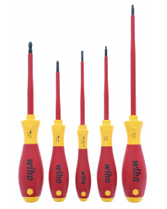 Slotted Phillips and Square Insulated Screwdriver Set 5-Piece