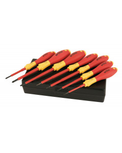 Insulated Small Sizes Slotted/Phillips Screwdrivers 7 Piece Set