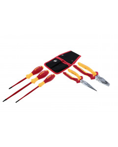 Insulated Pliers and Cutters with SlimLine Screwdrivers 5 Piece Set