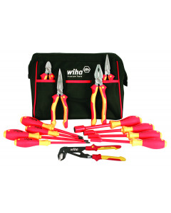 Insulated Pliers, Cutter, Screwdrivers, and Nut Drivers 13 Piece Set