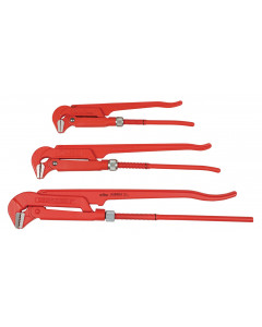 Pipe Wrench 90° Narrow Style 3 Piece Set