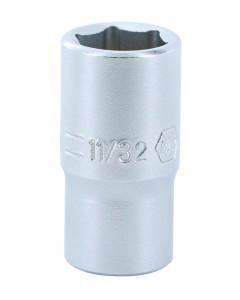 "1/4"" Drive Socket, 6 Point, 11/32"""