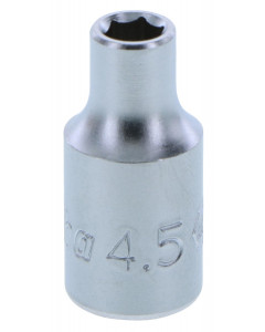 "4.5mm 1/4"" Square Drive 6 point  Socket"