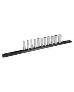 1/4 Inch Drive 6 Point Deep Socket Set 4-14mm with Ratchet and Extensions 14-Piece