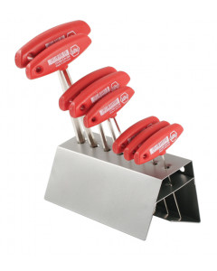 Hex T-Handle Metric 8 Piece Set in Metal Stand