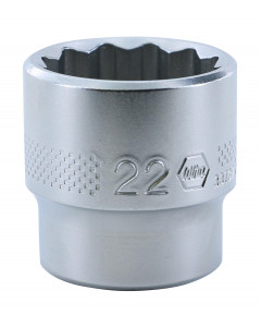 "3/8"" Drive Socket, 12 Point, 22.0mm"