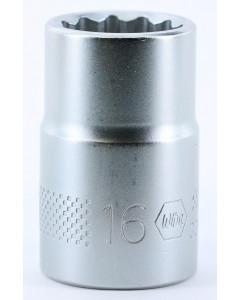 "1/2"" Drive Socket, 12 Point, 16.0mm"