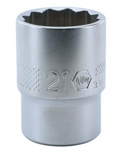 "1/2"" Drive Socket, 12 Point, 21.0mm"