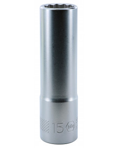 "1/2"" Drive Deep Socket, 12 Point, 15.0mm"