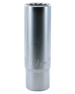 "1/2"" Drive Deep Socket, 12 Point, 17.0mm"