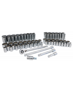 "84-Piece 1/2"" Drive MM and SAE Socket Set"