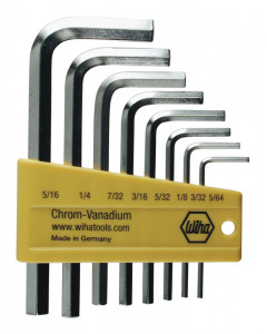 8 Piece Hex L-Key Short Arm Set - Inch