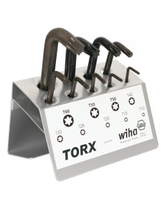 Torx® L-Key 9 Piece Set in Metal Stand T10-T60