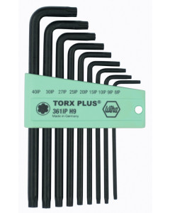 TorxPlus® Long Arm L-Key 9 Piece Set IP8-IP40