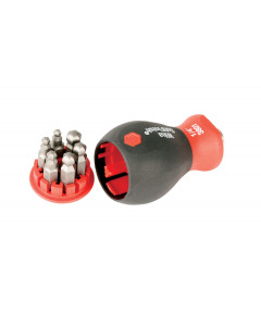 6-in-1 Stubby Bit Holder Ball End Hex Inch Set