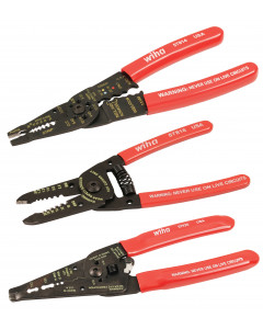 3 Piece Classic Grip Wire Stripper Set