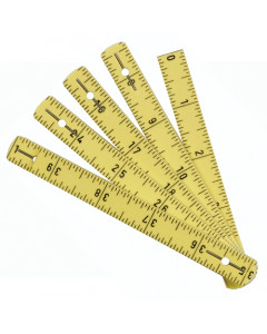 MaxiFlex Folding Ruler Inch/Metric Inside Reading