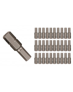 Hex Metric Insert Bit Contractor Grade 30 Pack