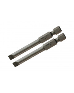 Slotted Power Bit 2.5 x 70mm Pack of 2 Bits