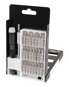 System 4 Slotted/Phillips/Hex Metric/Torx® Micro Bit 27 Piece Set with ESD Safe Precision Handle