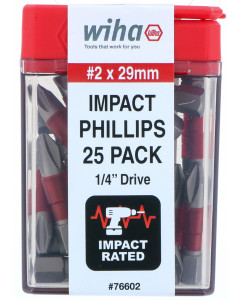 Terminator Impact Insert Bit Phillips #2 Pack of 25 Bits