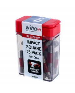 #2 Square 1-Inch Terminator Impact Pack of 25 Bits