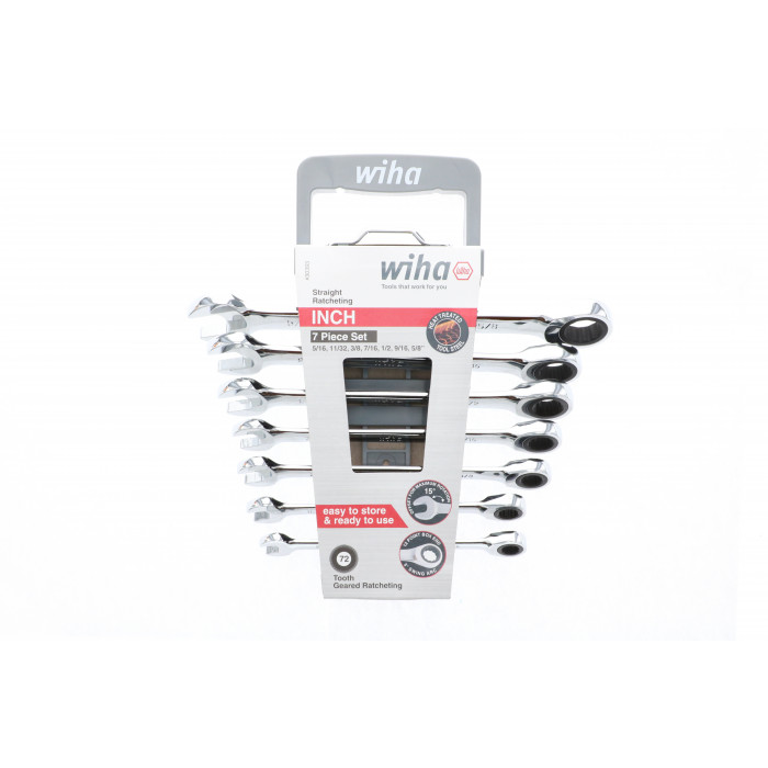 Combination Inch Ratchet Wrenches 7 Piece Set