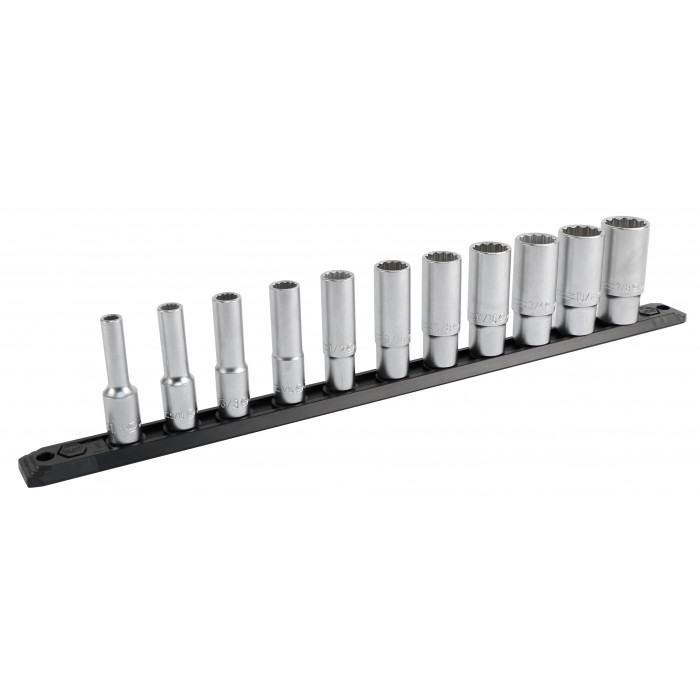 3/8 Inch Drive 12 Point Deep Socket Set 1/4 to 7/8