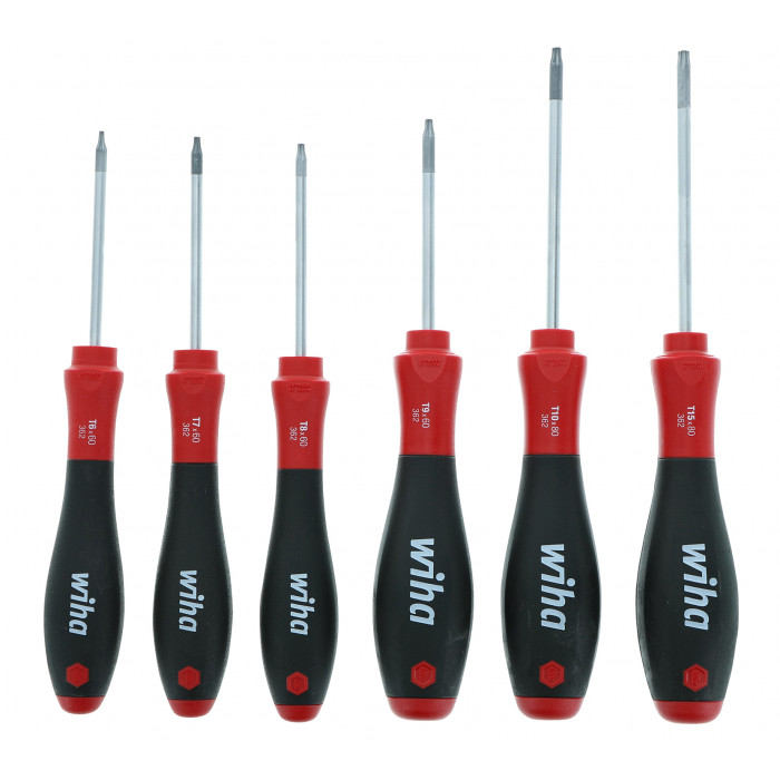 SoftFinish® Torx® Screwdriver 6 Piece Set T6-T15