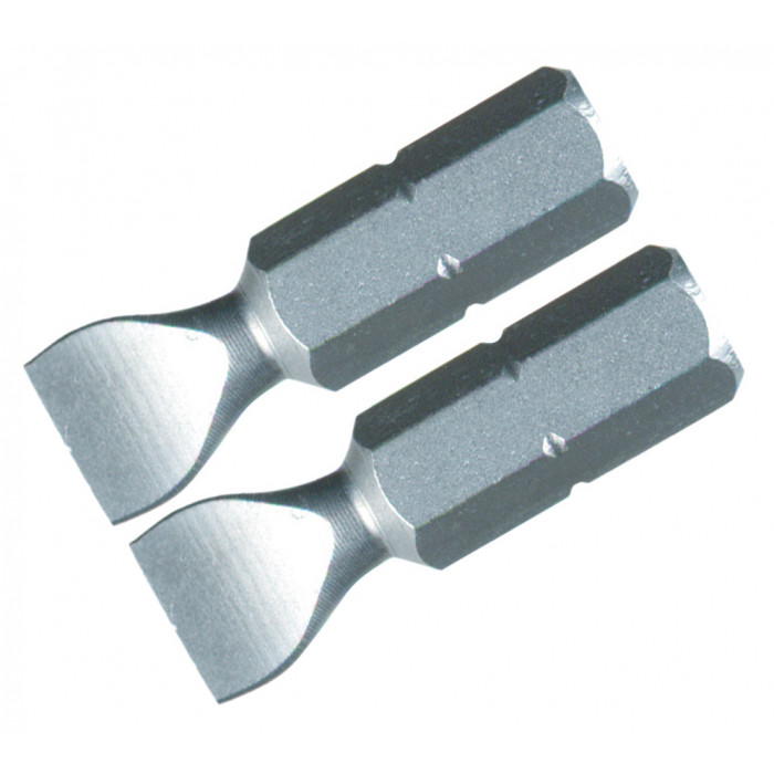 Slotted Insert Bit 6.0 x 25mm Pack of 2 Bits