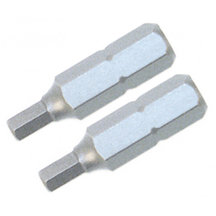 Hex Inch Insert Bit .050 x 25mm Pack of 2 Bits