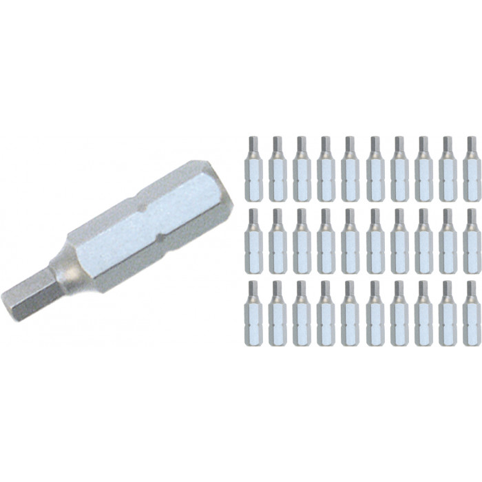 Hex Contractor Insert Bit 3.0mm Bulk Pack of 30 Bits
