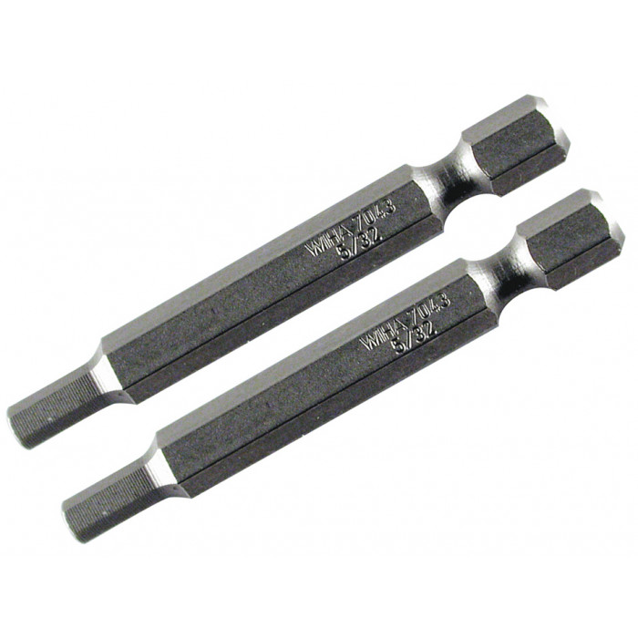 Hex Inch Power Bit 5/32 x 70mm Pack of 2 Bits