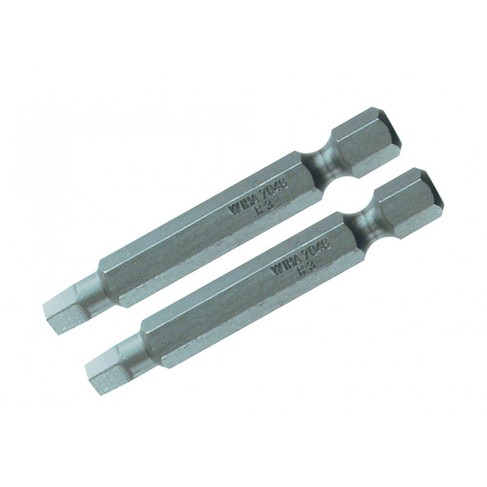 Square Power Bit #1 x 50mm Pack of 2 Bits