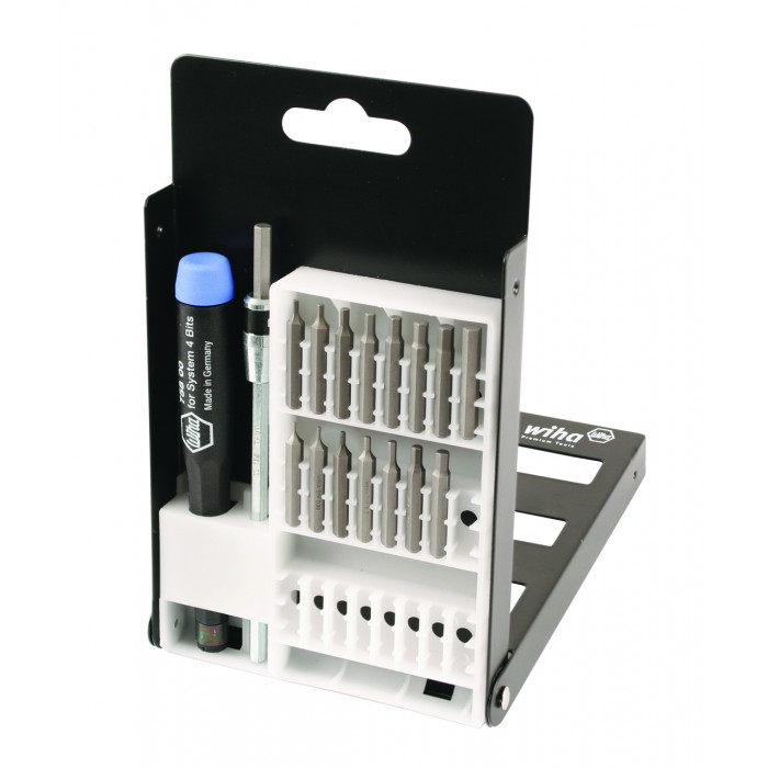 System 4 Hex Inch/Metric Micro Bit 18 Piece Set with Standard Precision Handle