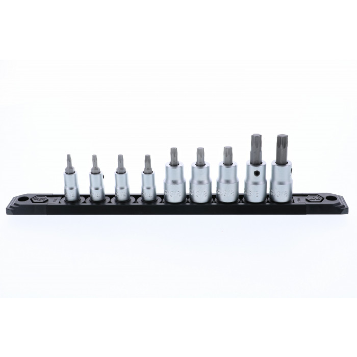 Torx® Bit Socket Set on Square Drive T10-T50 9 Piece Set