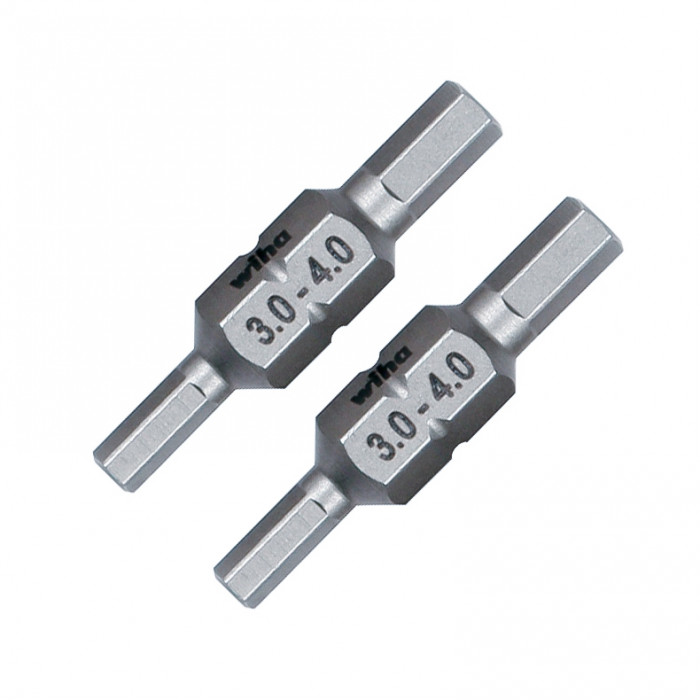 3.0 and 4.0mm Hex Metric Double End Bit 2 Pack