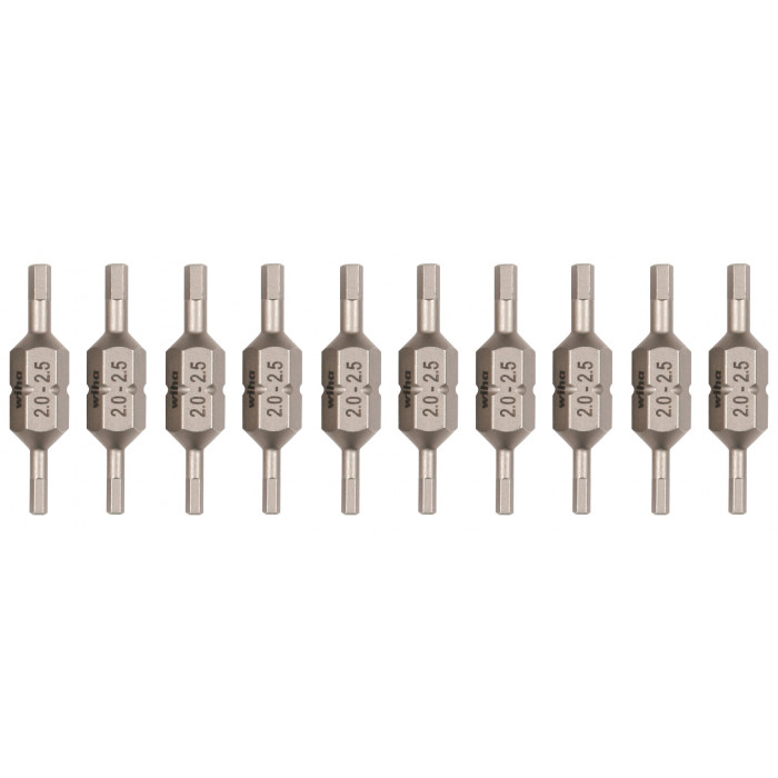 Hex metric double end ultra bit 10 Pack
