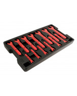 Insulated Open End Wrench 13 Piece Inch Tray Set