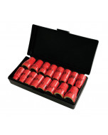 """Insulated 3/8"""" Drive Socket 16 Piece Inch/Metric Set"""