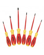 6 Piece Insulated SlimLine Slotted Phillips and Square Screwdriver Set