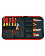 Insulated Pliers/Cutters/Screwdrivers 10 Piece Set in Zipper Case