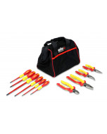 Insulated Pliers/Cutters/Screwdrivers 10 Piece Set in Canvas Pouch