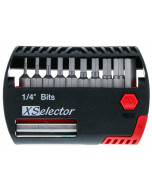 "11 Piece Hex XSelector and Magnetic Bit Holder Set - 1/16"" - 1/4"""